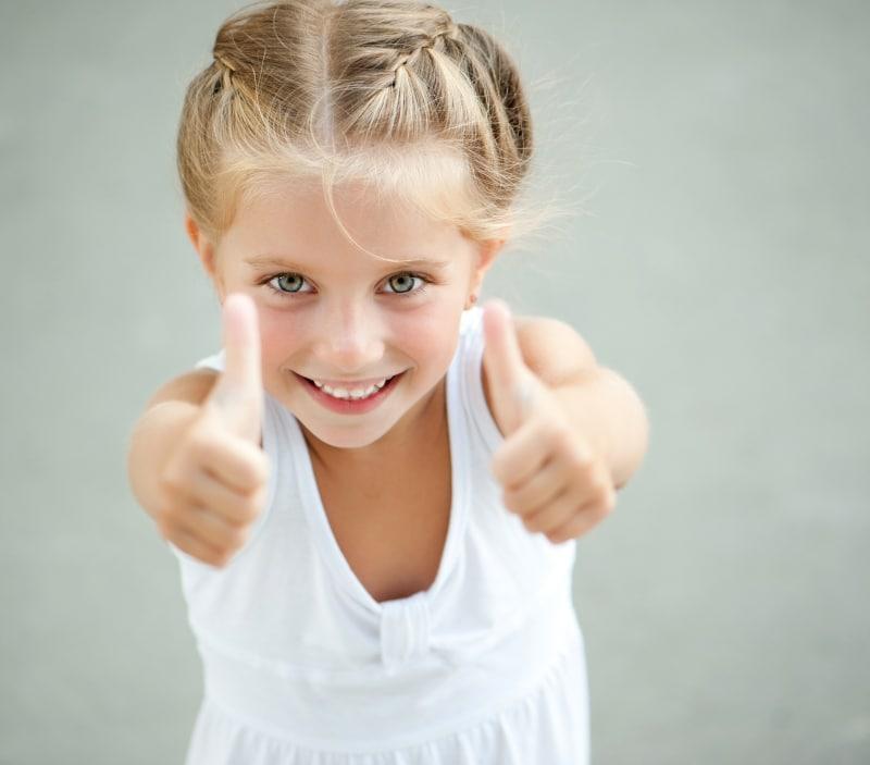 kids happy face great teeth